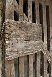 Ancient door in Villefranche de Conflent in Pyrenees Orientales, France Stock Photo