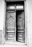 Ancient door. Door wood history of ancient past time, the monuments of thread beautiful Stock Image