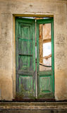 Ancient door. Ancient wooden door with vegitation Royalty Free Stock Images