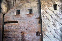 Ancient Doors Wood Iron  Stock Photography