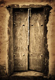 Ancient doors Stock Images