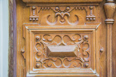 Ancient doors carving Royalty Free Stock Image