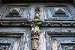 Ancient blue doors from nineteenth century Stock Images
