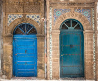Ancient doors, Essaouira, Morocco Stock Photography