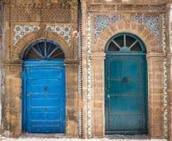 Ancient doors, Essaouira, Morocco Stock Photography