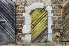 Ancient doors in old Riga, Latvia Royalty Free Stock Photography