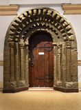 Ancient doorway. View of an ancient doorway displayed in a museum Royalty Free Stock Images
