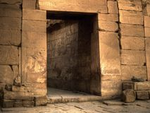 Ancient Doorway. In Karnak Temple in Egypt stock images