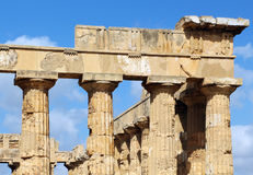 Ancient doric greek temple in Selinunte Royalty Free Stock Photo