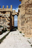 Ancient doric greek temple in Selinunte Royalty Free Stock Photography