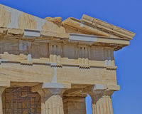 Ancient doric order temple detail Stock Photos