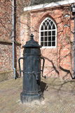 Ancient double water pump, Leeuwarden Royalty Free Stock Photography