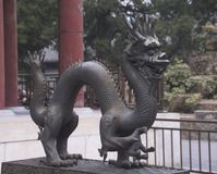 Ancient dragon statue Stock Photography