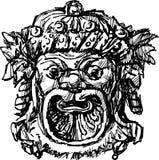 Ancient drama mask Stock Photo