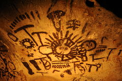 Ancient Drawings in Magura Cave, Belogradchik, Bulgaria Royalty Free Stock Image