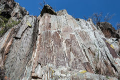 Ancient drawings rock mountains Stock Images