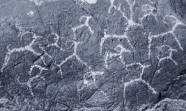 The ancient drawings on rocks Altai Royalty Free Stock Image