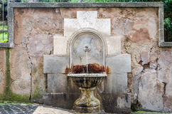 Ancient drinking fountain Stock Image