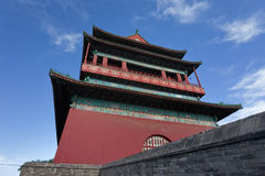 Ancient drum tower. Drum tower in Beijing, landmark in the old city center, Beijing, China, Asia Royalty Free Stock Photo
