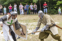 Ancient duel demonstration Stock Photos
