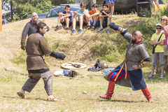Ancient duel demonstration Stock Images