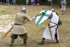 Ancient duel demonstration Royalty Free Stock Photos