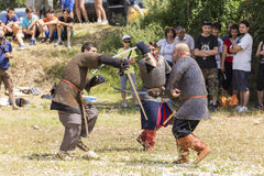 Ancient duel demonstration Stock Image