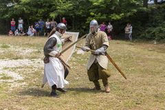 Ancient duel demonstration Royalty Free Stock Images