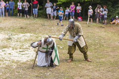 Ancient duel demonstration Royalty Free Stock Photo
