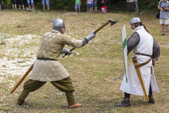 Ancient duel demonstration Royalty Free Stock Photography