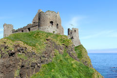 Ancient Dunluce castle Royalty Free Stock Photography