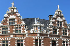 Ancient Dutch City Hall in Hoorn. Netherlands, province North-Holland,city, small town Hoorn: in the street Nieuwstraat is the Statenlogement, a listed Royalty Free Stock Photography