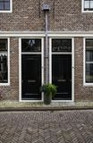 Ancient Dutch houses royalty free stock photos