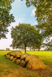 Ancient Dutch megalithic tomb dolmen hunebed. Ancient megalithic tomb dolmen hunebed in the Dutch province of Drenthe Stock Photos