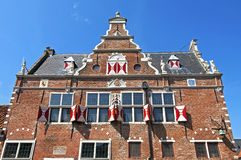 Ancient Dutch weigh house in Enkhuizen Stock Photography