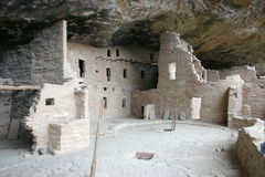 Ancient dwelling. Ancient ruins of the asanazi people at Mesa Verde Colorado Royalty Free Stock Images
