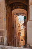 Ancient Eagle street in Valletta, Malta. Royalty Free Stock Photos