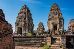 East Mebon temple in the Angkor Wat complex in Siem Reap, Cambodia royalty free stock image
