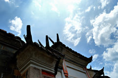 Ancient eaves Stock Images