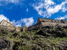 Ancient Edinburgh Castle, Scotland Stock Images