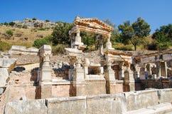Ancient Efes Efesus city ruins in Turkey stock image