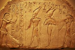 Ancient Egypt art. Ancient Egypt hieroglyphs in Luxor stock images