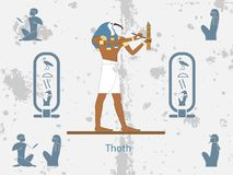Ancient egypt backgrounds. Thoth is one of the ancient Egyptian deities royalty free illustration