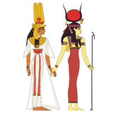 Ancient egypt deities Royalty Free Stock Photography