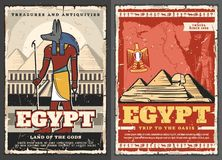 Free Ancient Egypt God Ra, Cairo Pyramids, Phoenix Bird Royalty Free Stock Images - 163160329