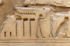 Ancient egypt images and hieroglyphics Royalty Free Stock Photos