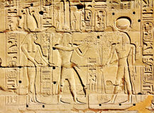 Ancient egypt images and hieroglyphics Royalty Free Stock Photo
