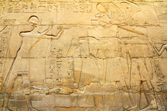 Ancient egypt images in Karnak temple Stock Photo