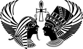 Ancient egypt king and queen Royalty Free Stock Image