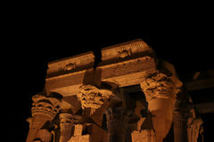Ancient egypt on nightfall. Ancient egyptian arquitecture on nightfall Stock Images